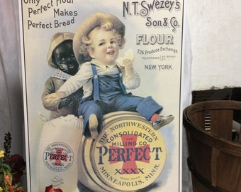 Vintage Printed Tin Sign