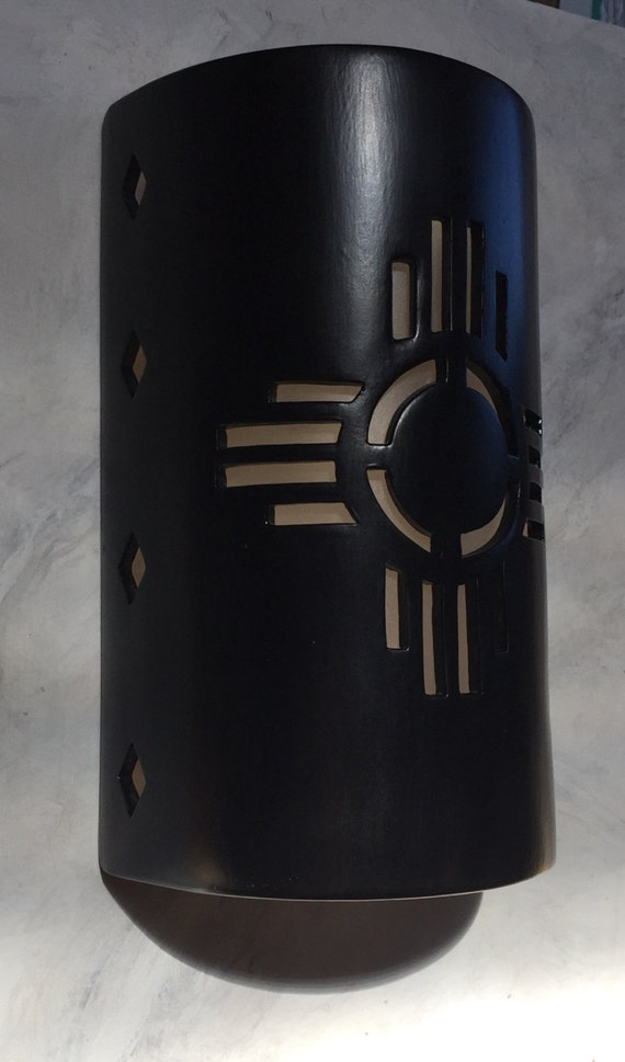New Mexican Wall Sconces : New Mexico symbol Zia Outdoor Wall Sconce by CustomCutLighting