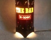 Accent Lamp - Bar Lamp - The Bar is Open Lamp - Revolving Lamp