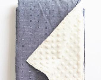 Minky Baby Blanket Minky Blanket Baby Blankets Baby Blanket Minky Receiving Blanket Baby Blankets Handmade Minky Baby Blanket Boy Chambray
