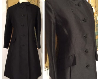 1960s Evening Coat by Curlew of California --  Impeccable Tailoring, Beautiful Details