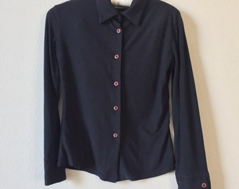 vintage long sleeve collared shirt