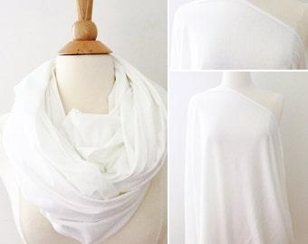 Nursing Scarf - White Nursing Scarf, Soft White Nursing Cover, Infinity Nursing Scarf, Privacy Cover, Maternity scarf
