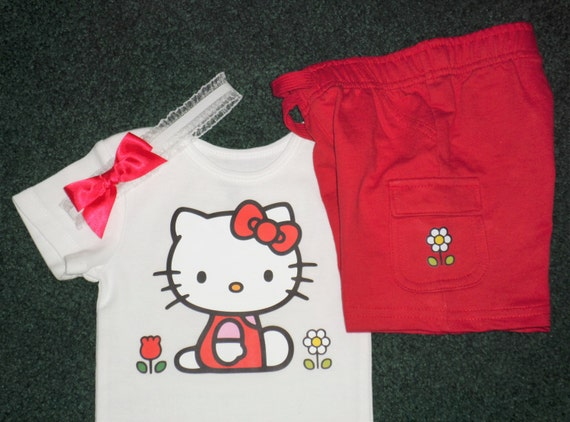 Hello Kitty Baby Gift Sets : Hello kitty baby girl bodysuit gift set and red