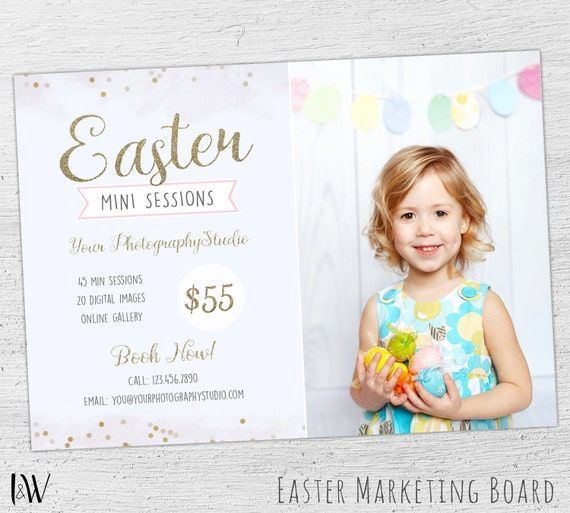 Easter mini session template easter photography by inkandwell for Photography marketing templates free