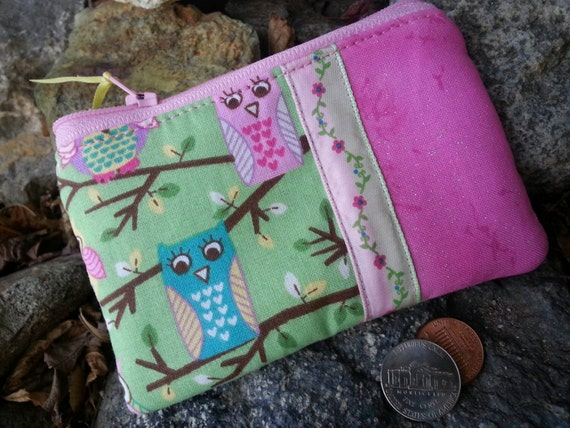 Owl Coin Purse, Girls Zipper Wallet