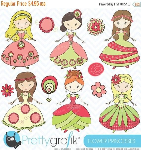 80% OFF SALE royal princesses clipart commercial use, vector graphics, digital clip art, digital images - CL367