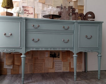 Sold - -  Refinished vintage French provincial buffet console