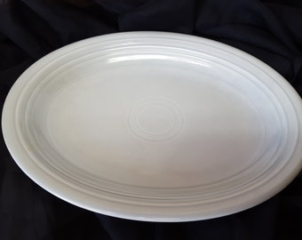 Vintage grey Fiestaware platter 1951-1969