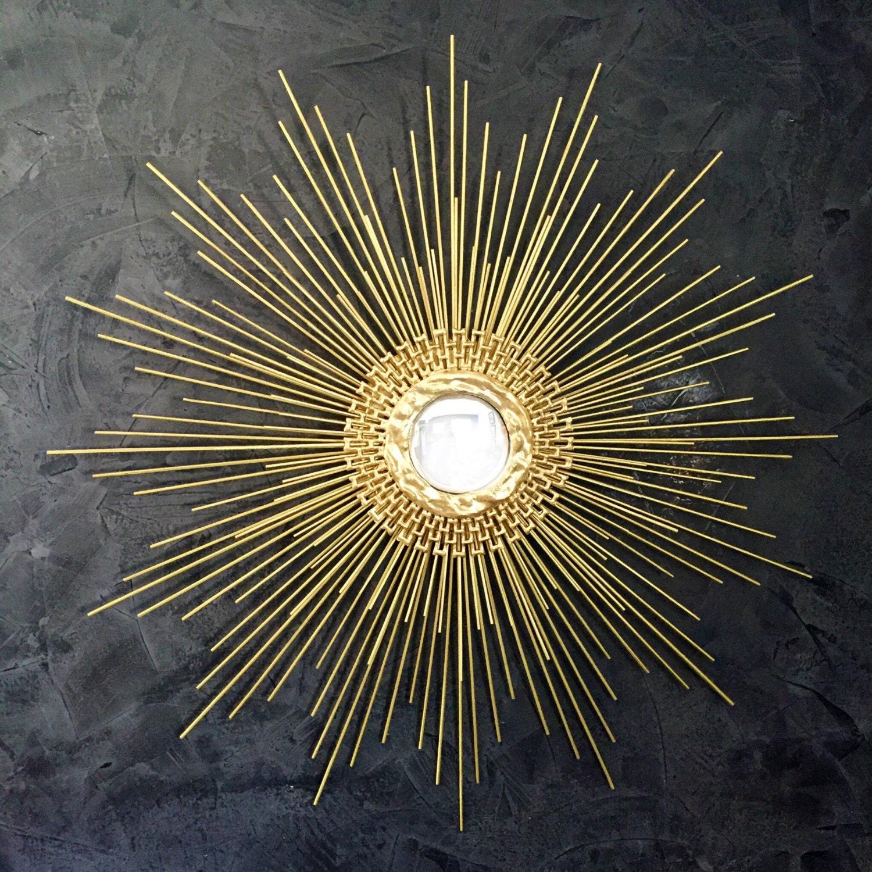 Gold starburst mirror handmade sunburst mirror 27in 1006 or for Sunburst mirror