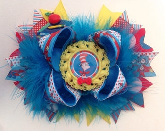Dr. Suess boutique hair bow
