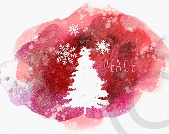 Digital Christmas Card Printable Christian Watercolor Wishing You Joy of Jesus Print for Cards, Tags, Crafts with Christmas Herald Angel