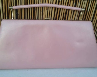 Vintage 50's Pearlized Pink Leon of California Handbag Clutch