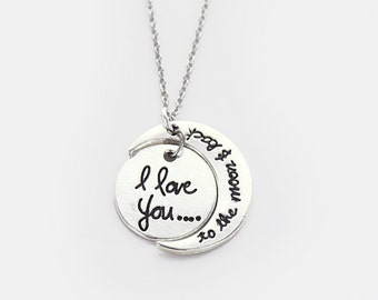I Love You to the Moon and Back Necklace - AS1539