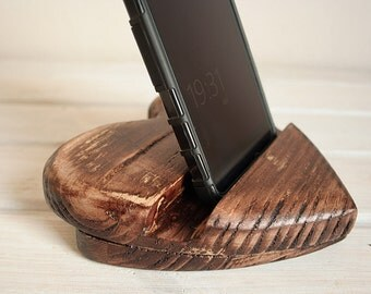 Free shipping. Wooden handmade stand for iphone and ipad. Vintage style. Decor stand. Accesory for iphone. Accesory for ipad.
