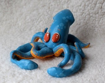 Mr. Blue Squid sculpture