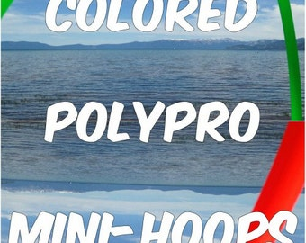"Special 2 Colored 3/4"" PolyPro Mini Hula Hoops - You Choose Colors and Size for the Hoop"