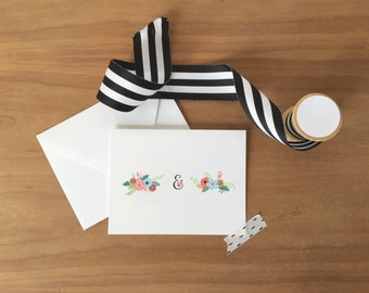 Floral Monogram Stationery Set