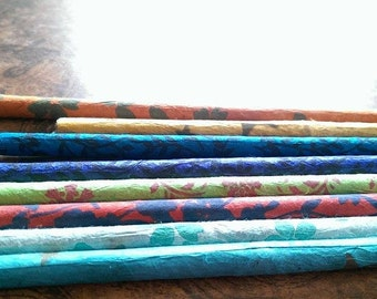 Colorful Nepali Paper Wrapped Pencils