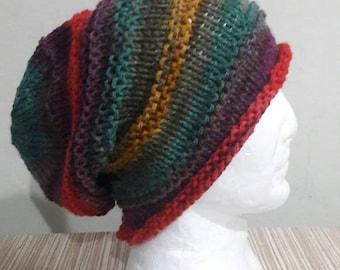 Mens Slouchy Beanie Baggy Hat Chunky Hat Men's Dreadlock Hat Slouchy Hat Women Men Fashion Accessories Handmade  Gift Ideas