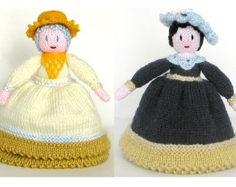 Traditional toy Day-Night Topsy-Turvy Knitted Toy Made to order