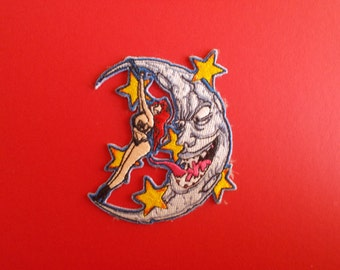 Tattoo Flash Patch,Patch,Moon,Pin-Up,Stars,Tattoo Clothing,Embroided Patch,
