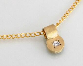 diamond necklace,gold pendant,bridal gold pendant,bridal necklace,anniversary gift,diamond pendant,gold necklace,14k gold necklace,14k gold