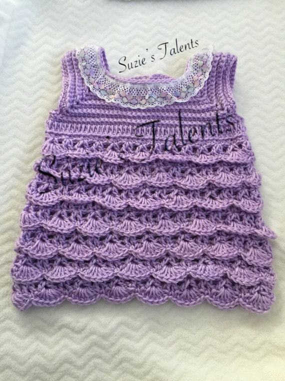 Crochet Ruffled Baby Dress Pattern : PATTERN PT154 Crochet Baby RUFFLE Dress Baby Dress pattern