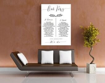 Personalised Wedding Vows Print