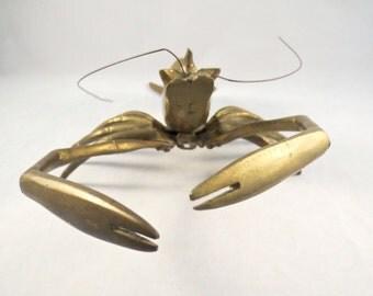 Vintage Brass Lobster ~ Beach Decor
