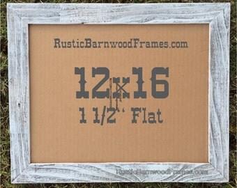 12x16 1 12 white flat rustic barn wood weathered reclaimed primitive photo picture frame 12 x 16 drift nautical beach barnwood frames