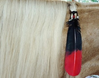 horse tail hair style arrowhead and feather equine mane or hair ornament 5028 | il 340x270.1040199264 ctaw