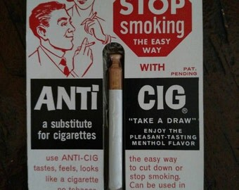 50s authentic anti smoking cigarette