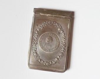 Holy Communion card holder French vintage religious Roman Catholic communion gift religious collectible religious keepsake