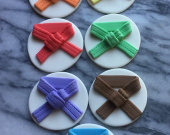 Karate Belts for your cupcakes
