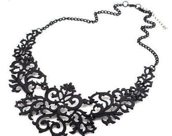 Black Statement Necklace - Gift for her