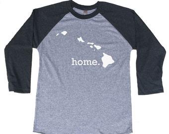 Homeland Tees Hawaii Home Tri-Blend Raglan Baseball Shirt