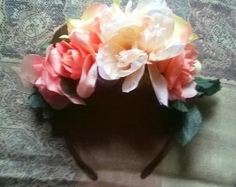 Flower Headband with Various Flowers