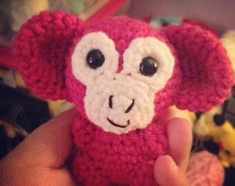 Pink Monkey Amigurumi