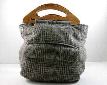 Medium Repurposed suit jacket purse