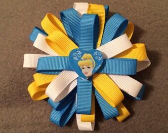 Cinderella Flower Stack Loop Bow