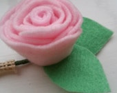Rose Burlap Buttonhole