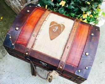 Medium Personalized Shabby Chic Rustic Wooden Card Box-Rustic Wedding Card Box-Love letter Ceremony-Rustic Wedding Decor-Advice Box