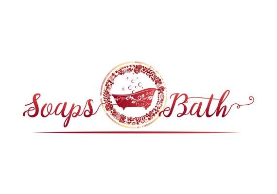 custom logo design bath bathtub tub logo logo for natural