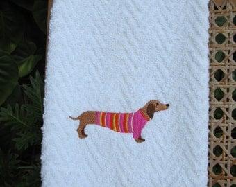 Dachshund Kitchen Towel