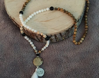 Mala Inspired necklace w/ silk tassel!!!