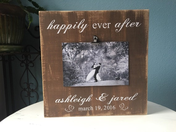 Personalized Disney Wedding Gifts: Items Similar To Personalized Wedding Picture Frame