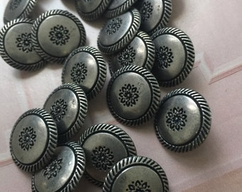 Bulk 22 small metal  buttons / shank metal buttons