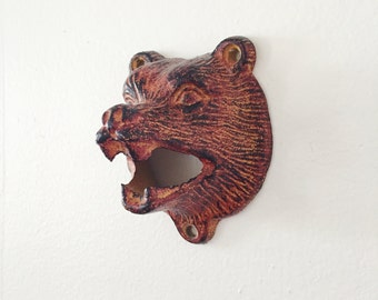 Wall Mounted Bear Bottle Opener . Beer Opener . Wall Hanging