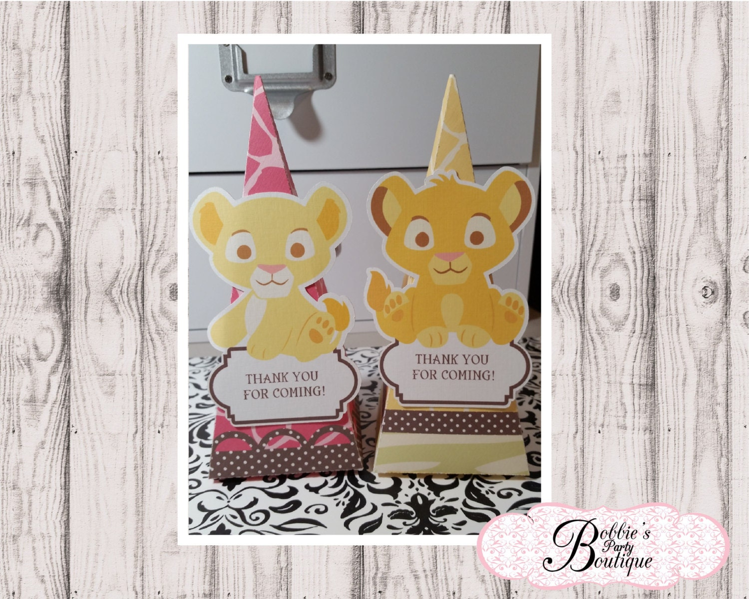 lion king baby shower favors lion king boxes baby shower